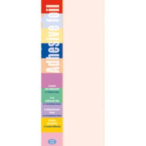 1 PK (1PK) Adhesive foil oranje-l.oranje 10 x 23 cm 6 VL