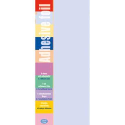 1 PK (1PK) Adhesive foil l.roze-l.paars 10 x 23 cm 6 VL