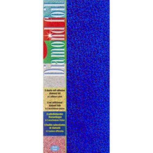 1 PK (1PK) Diamond foil l.blauw-d.blauw 10 x 23 cm 6 VL
