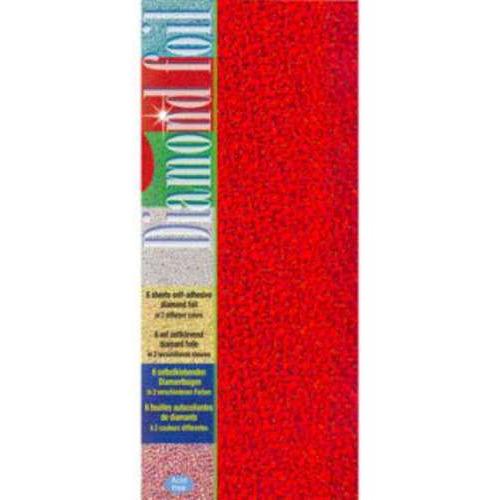 1 PK (1PK) Diamond foil groen-rood 10 x 23 cm 6 VL