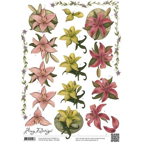 3D Knipvel - Amy Design - Bloemen