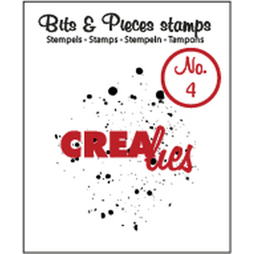 Crealies Clearstamp Bits&Pieces no. 04 Ink splashes CLBP04