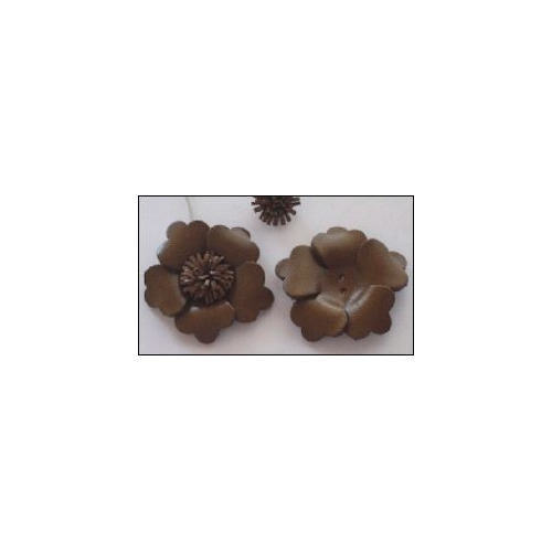 Real Leather Flower (1) brown