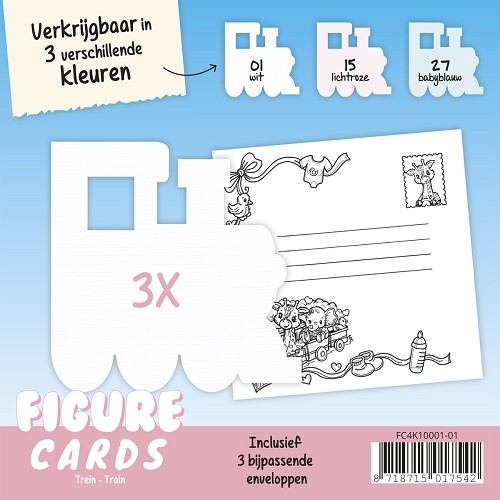Figure Cards - Stoomlocomotief - Wit