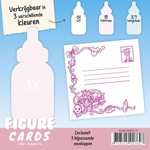 Figure Cards - Flesje - Lichtroze