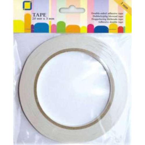 1 RL (1RL) Dubbelzijdig klevend tape 3 mm 20 MT