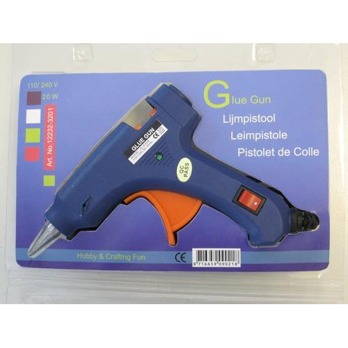 1 PK (1ST) Glue gun (on/off switch & ind.) 20w, stick 7 MM