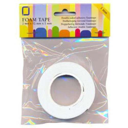 1 RL (1RL) Foam tape 1 mm dubbelzijdig 2 MT