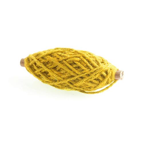 1 RL (25 MT) Jute koord  Flax geel 3,5MM