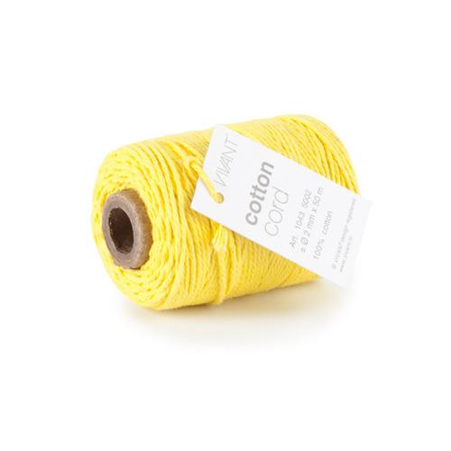 Vivant   Koord Katoen fijn geel - 50 MT 2MM