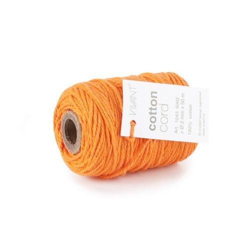 Vivant   Koord Katoen fijn oranje - 50 MT 2MM