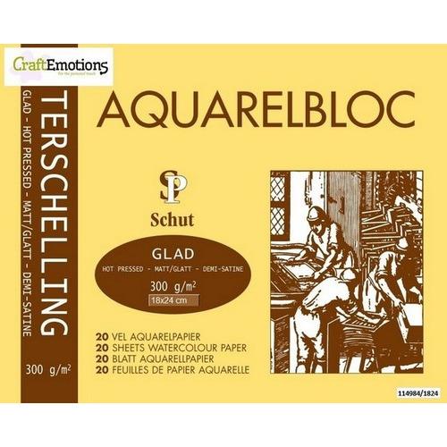 Schut Terschelling Aquarelblok glad 18x24cm 300 gram - 20 sheets