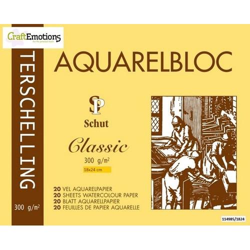Schut Terschelling Aquarelblok Classic 18x24cm 300 gram - 20 sheets