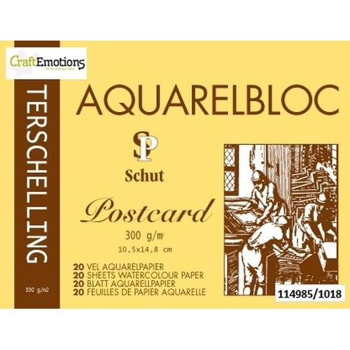 Schut Terschelling Aquarelblok Classic 10,5x14,8cm 300 gram - 20 sheets (postcard)