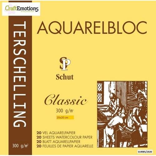 Schut Terschelling Aquarelblok Classic 20x20cm 300 gram - 20 sheets