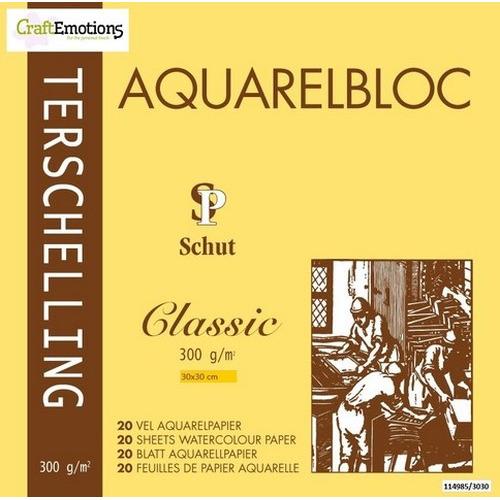 Schut Terschelling Aquarelblok Classic 30x30cm 300 gram - 20 sheets
