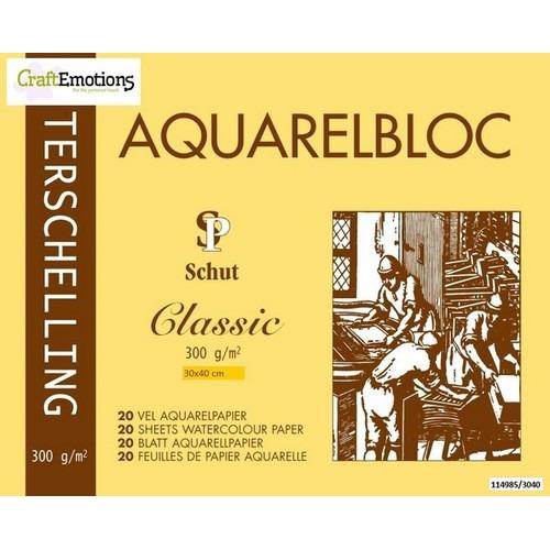 Schut Terschelling Aquarelblok Classic 30x40cm 300 gram - 20 sheets