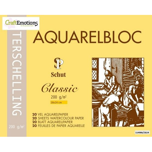 Schut Terschelling Aquarelblok Classic 18x24cm 200 gram - 20 sheets