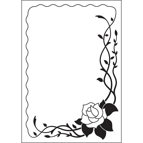 Embossing Folder 106x150mm Vintasia  Rose frame
