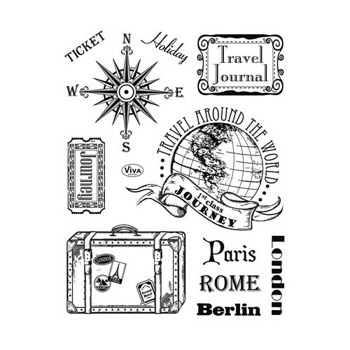 Clear Stamps - Paris-Rome-Berlin