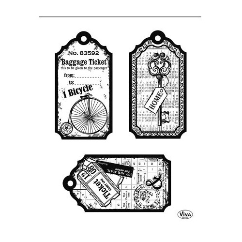 Clear Stamps - Tag Bicycle