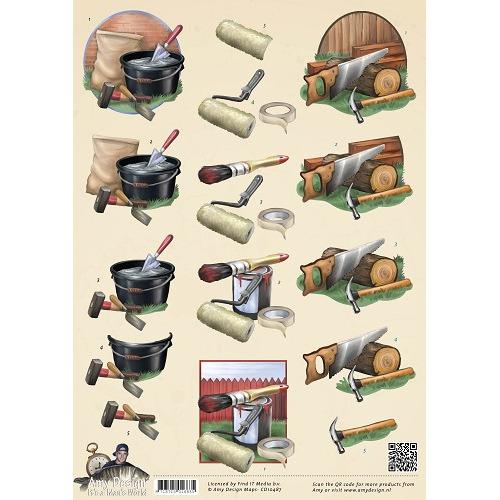 3D Knipvel - Amy Design - Its a Mans World - Klussen