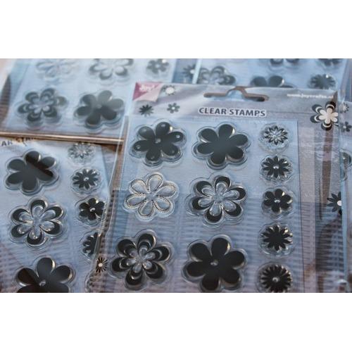 Joy Crafts stempel - Bloemen Puntig