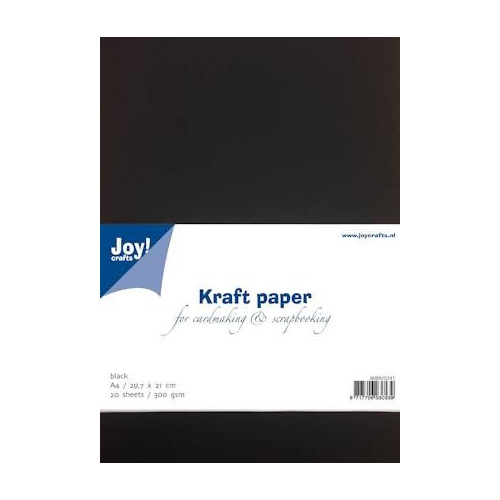 Joy Crafts Kraft papier - A4 Zwart