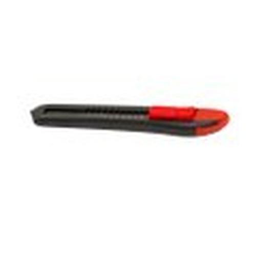 1 ST (1 ST) Afbreekmes groot 18 mm  zwart rood