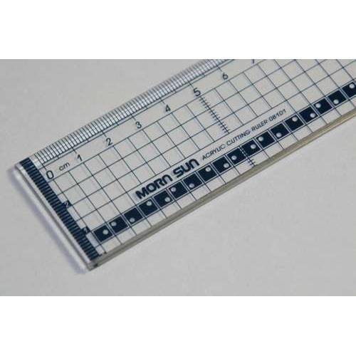 1 ST (1 ST) Snijliniaal transparant 30cm met metalen rand