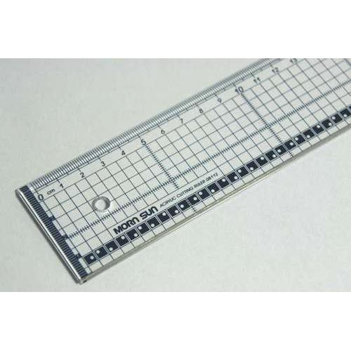 1 ST (1 ST) Snijliniaal transparant 40cm met metalen rand