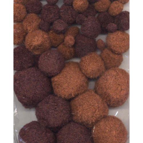 1 ST (1ST) Mix PomPom Set bruin tinten 50 ST    1.0 - 1.5 - 2.0 - 2.5 cm