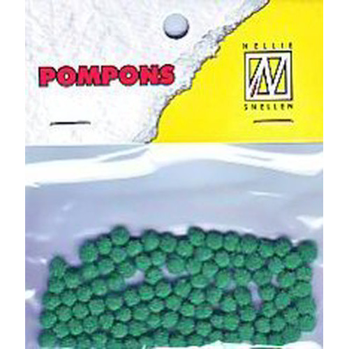 Nellie's Choice  Mini pompoms emerald 100 ST 3mm POM004