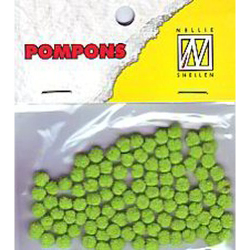 Nellie`s Choice  Mini pompoms kalk 100 ST 3mm POM007