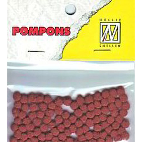 Nellie`s Choice  Mini pompoms roest 100 ST 3mm POM015