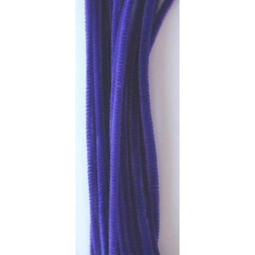 Chenille lila 6mm x 30cm 20st