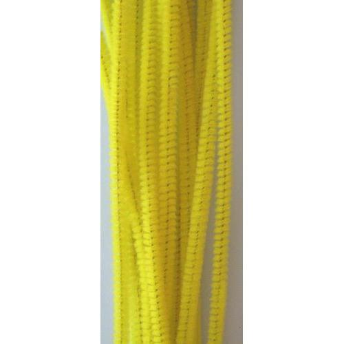 Chenille geel 6mm x 30cm 20st