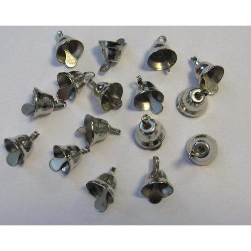 Klokjes zilver 11 mm 16 ST