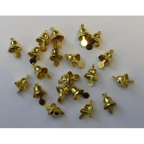 Klokjes goudkleur 8 mm 20 ST