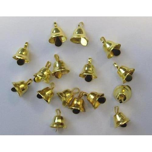 Klokjes goudkleur 11 mm 16 ST