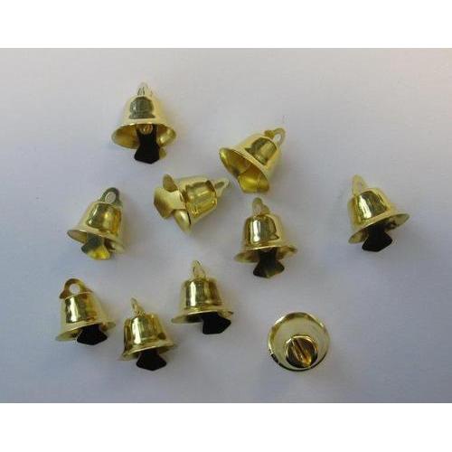 Klokjes goudkleur 15 mm 10 ST