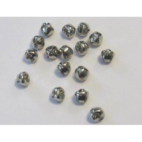 ) Kerst belletjes zilver 8 mm 16 ST