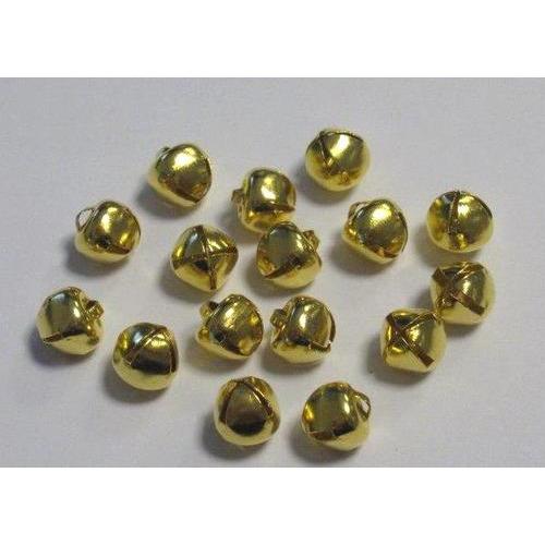 Kerst belletjes goudkleur 8 mm 16 ST