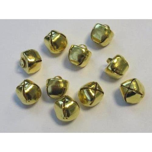 Kerst belletjes goudkleur 12 mm 10 ST
