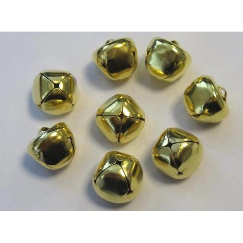 Kerst belletjes goudkleur 15 mm 8 ST