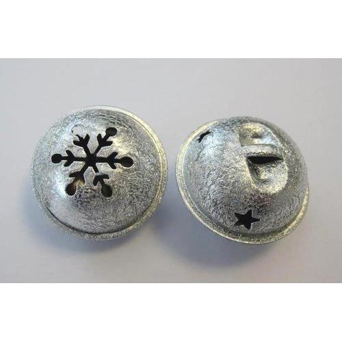 1 ST (1ST) Kerst bel satijn zilver 35 mm 1 ST