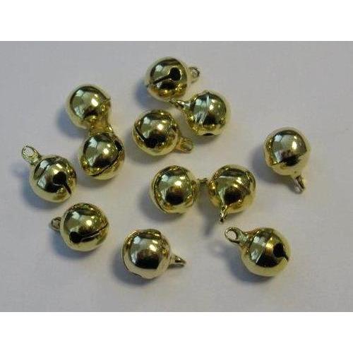 1 ST (1ST) Sieraden belletjes goudkleur 10 mm 12 ST
