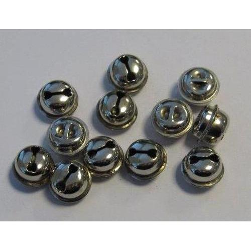 1 ST (1ST) Kattebelletjes zilver 13 mm 12 ST