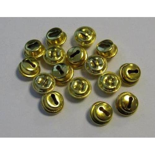 1 ST (1ST) Kattebelletjes goudkleur 10 mm 16 ST