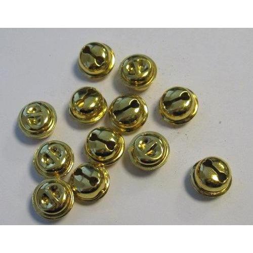 1 ST (1ST) Kattebelletjes goudkleur 13 mm 12 ST